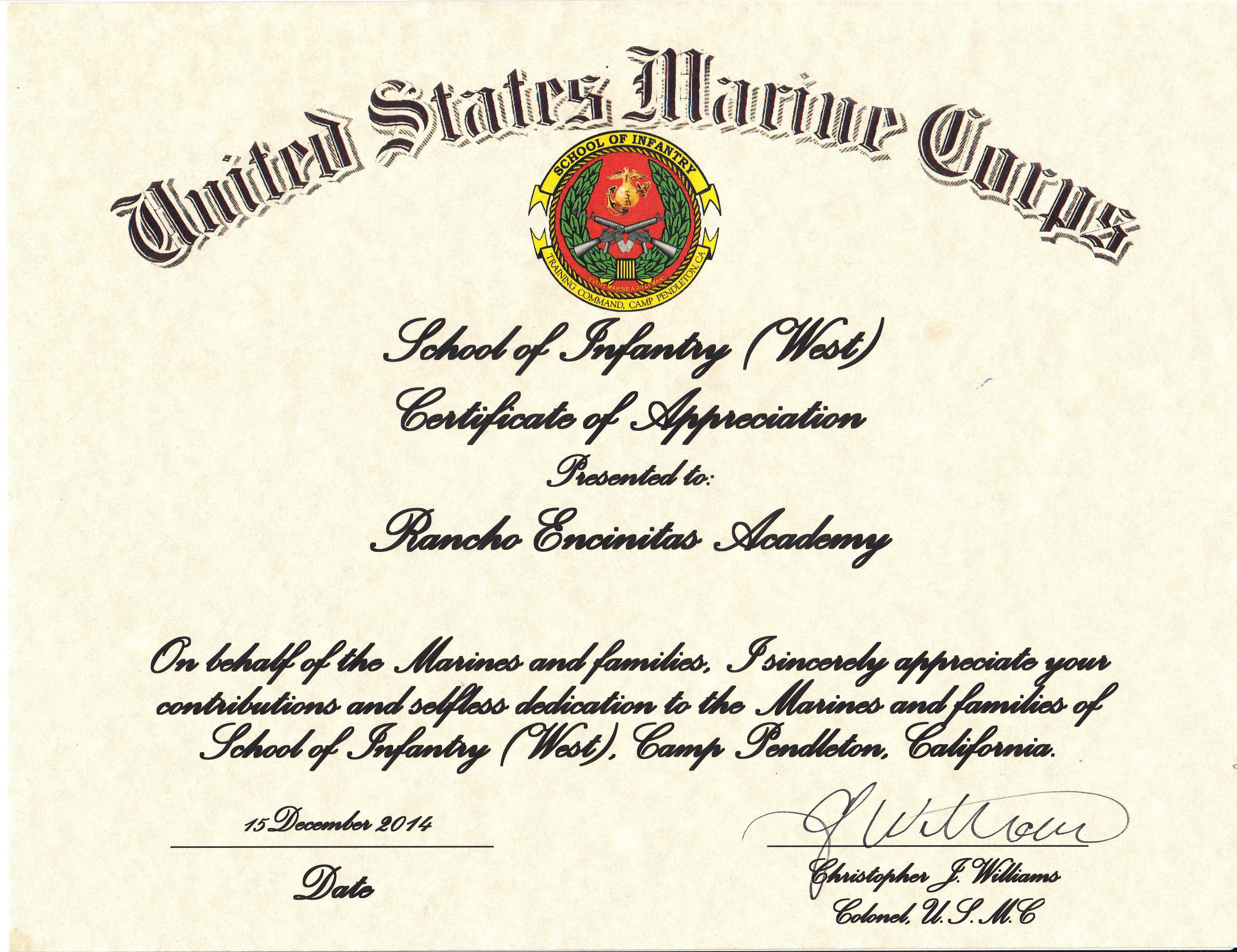 usmc mcmap certificate template